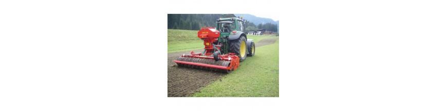 Sejací stroj na obnovu trávnych porastov